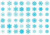 Vector.48 Different Beauty Snowflakes