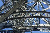 picture of dom  - Metalworks famous Dom Luis I Bridge in Porto - JPG