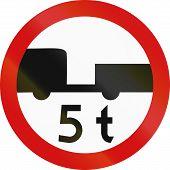 stock photo of motor vehicles  - Polish regulatory sign  - JPG