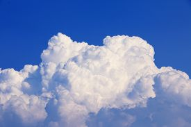 stock photo of blue  - Sky clouds background - JPG