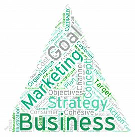 stock photo of pyramid shape  - Pyramid shaped business word cloud on a white background - JPG
