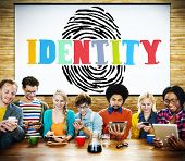 picture of safety  - Finger print Identity Branding Protection Safety Concept - JPG