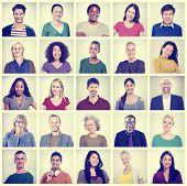 foto of human face  - People Diversity Faces Human Face Portrait Community Concept - JPG