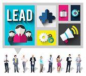 foto of mentoring  - Lead Leadership Management Mentor Boss Concept - JPG