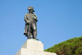 stock photo of bonaparte  - Statue of Napoleon Bonaparte as First imperator of France Ajaccio Corsica - JPG