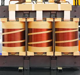 pic of transformer  - Big Industrial Electric Transformer Device With Copper Wire Coils - JPG