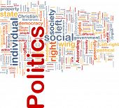 Background concept wordcloud illustration of social individual politics