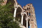 Monastery of Pantanassa at the fortified historical city of Mystras in Greece
