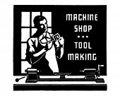 Machine Shop - Retro Ad Art Banner
