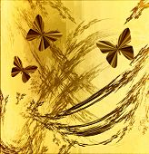 Earthtone Grunge With Butterflies