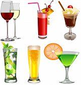 Set of beverages.