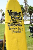 Signo de tabla de surf de Venice Beach