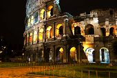 Rome Coliseum by night