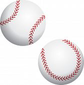 two angles of a baseball