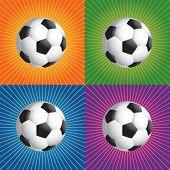 retro colored soccer balls