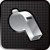 shiny black whistle icon