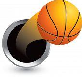 popping through hole basketball