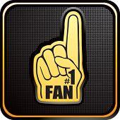 number one fan foam hand on web button