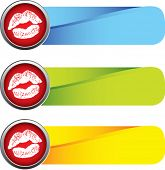 lip smooch on colored tabs
