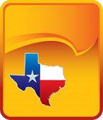 texas icon on orange rip curl background