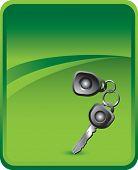 car keys on classic clean background
