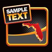 forma de estado de Florida no banner de meio-tom preto