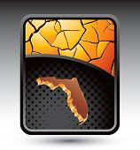 forma de estado de Florida no banner rachado