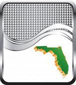 ícone de Florida no cenário de onda quadriculada