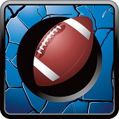 football on cracked web icon