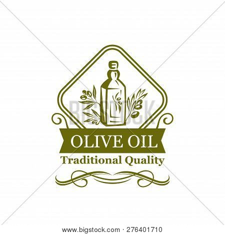 Olive Oil Green Icon Of