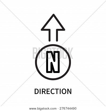 poster of Direction Icon Isolated On White Background. Direction Icon Simple Sign. Direction Icon Trendy And M