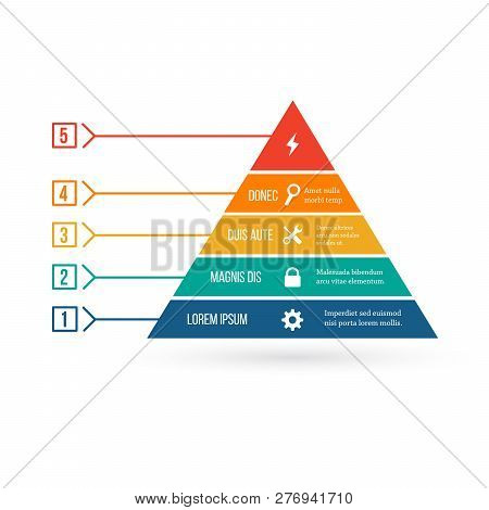 Pyramid Infographic Template With Five