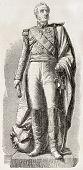 Marshal Louis Gabriel  Suchet, Duke of Albufera. Statue in Lyon. Created by Marc after sculpture of  Dumont, published on L'Illustration, Journal Universel, Paris, 1858