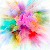 Painted Color Splash Explosion poster