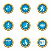 Spiritual Power Icons Set. Flat Set Of 9 Spiritual Power Icons For Web Isolated On White Background poster