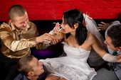 image of bachelor party  - Crazy wedding party in night club - JPG