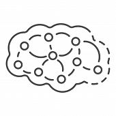 Neuron Brain Icon. Outline Neuron Brain Icon For Web Design Isolated On White Background poster