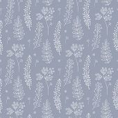 Botany Seamless Pattern With Herbs. Vector Illustration. Can Be Used For Wallpaper, Textile, Gift Wr poster