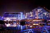 Gibraltar Marina At Night