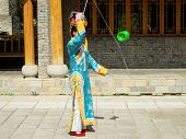 Manchurian Girl Juggling Diabolo