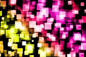 Abstract, Fine Art, Background, Background, Bokeh, Bright Multi-colored Background Bokeh Squares, Co poster