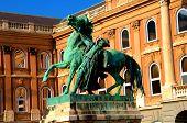 horseman statue budapest, hungary