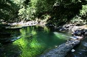 Lake With Granite Small Waterfall