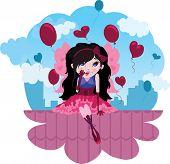 Cute Love Fairy cartoon vector