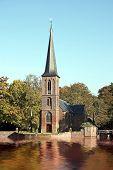 Late medieval church near castle 'De Haar' in the Netherlands