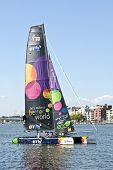 AMSTERDAM-19th SEPTEMBER 08, ishares-cup world final extreme catamaran race in Amsterdam harbor in t