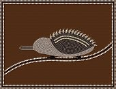 image of aborigines  - Dreaming time Echidna  - JPG