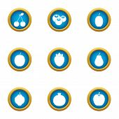 Orchard Icons Set. Flat Set Of 9 Orchard Icons For Web Isolated On White Background poster
