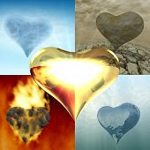 Element Five Hearts