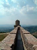 pic of assis  - on the castle fortifications at assis - JPG